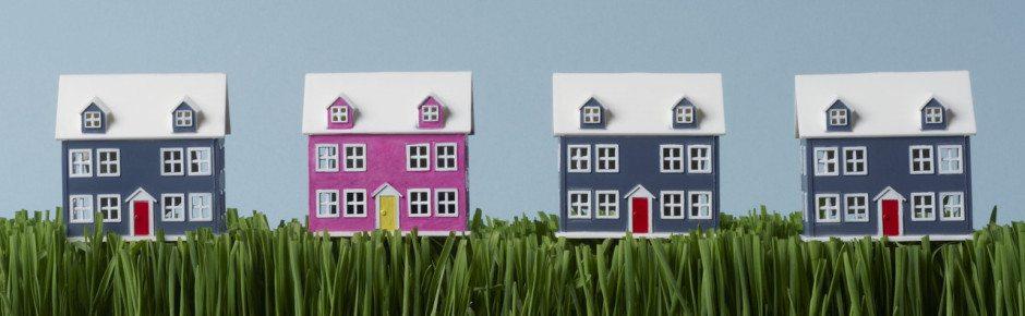 Row of houses --- Image by © Fancy/Veer/Corbis